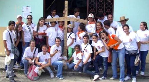 Miembros de Juventud y Familia Misionera de Ecuador.