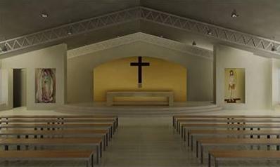 Una de las capillas ya construidas.