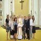 P. Alberto, novello diacono con familiari e amici nella cappella del Centro di Studi Superiori a Roma.