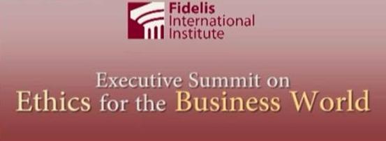 Al final del primer semestre de 2011, el «Instituto Fidelis» colaboró con Pontificio Consejo Justicia y Paz en la organización de un congreso sobre ética de negocios.