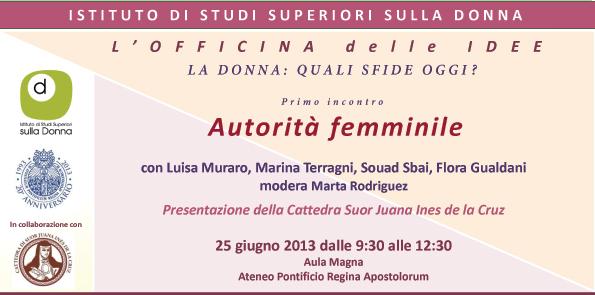 autorià femminile - ISSD - Roma, 2013