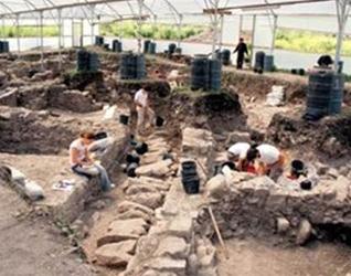 Hallazgo de el �miqwe�, una estructura en forma de piscina que funcionaba como baño de purificación en el siglo I.