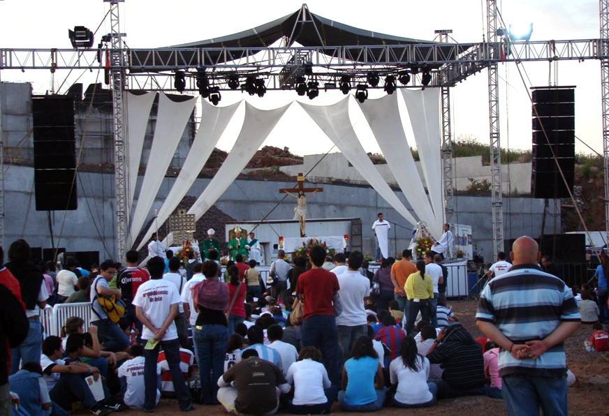 La oportunidad de participar en una misa con el Card. Juan Sandoval, arzobispo de Guadalajara, donde se construye el Santuario de los Mártires.