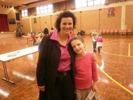 Rosemary en una actividad de Net en Australia.