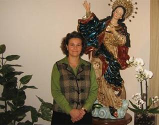 Rosemary Streckfuss en la sede de la asistente del director general, en Roma.