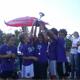 Chicos ganadores con su trofeo, en la Copa Faro que se desarrolló en Buenos Aires.