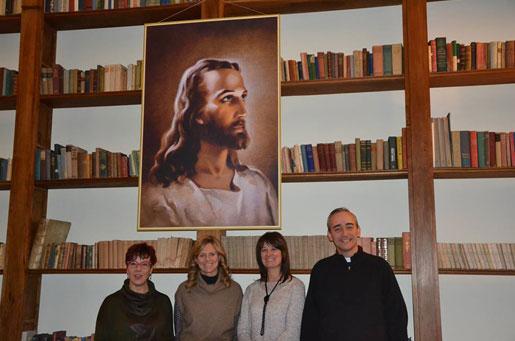 da sin. Monica De Fortuna, Chiara Lucifero, Vanna Barlocco e P. Miguel Cavallé, L.C.