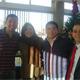 Alejandro Lara (derecha) en un evento de ex alumnos realizado en el Colegio Irlandés de Nuevo Laredo.
