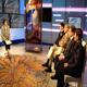 Adria Vattuone con il marito Marco Rocchi negli studi televisivi di Cristianità (una trasmissione di Suor Myriam Castelli per Rai International)