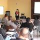 La psicóloga Claudia Tarasco en una de las conferencias.