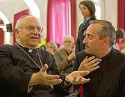 Il vescovo Mons. Farina con P. Cavallé.