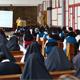 Religiosas en el seminario interdiocesano de Xalapa durante el congreso del Instituto DAR.