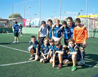 Chicos del Club Faro en España.