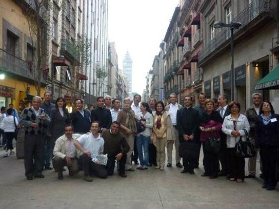 Los participantes pudieron, además, hacer un recorrido en el centro histórico de la Ciudad de México.