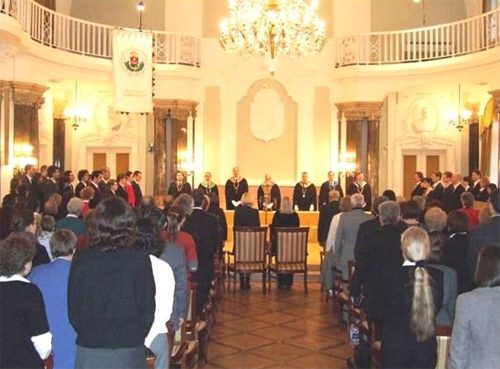 Ad&eacute;l Lens Graduate Degree Ceremony at E&ouml;tv&ouml;s Lor&aacute;nd University, Budapest 