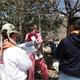 Miembros de Familia Misionera de Chihuahua durante las visitas a las familias
