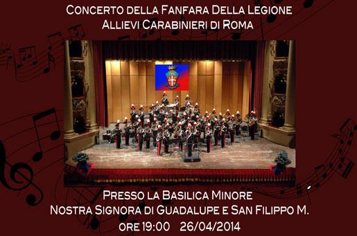 Concerto Fanfara Carabinieri Roma 2014