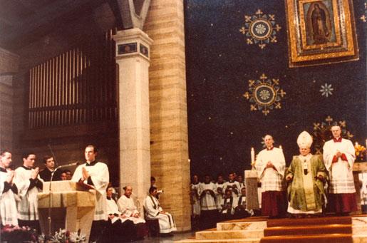Giovanni Paolo II visita la parrocchia di Guadalupe, 1980.