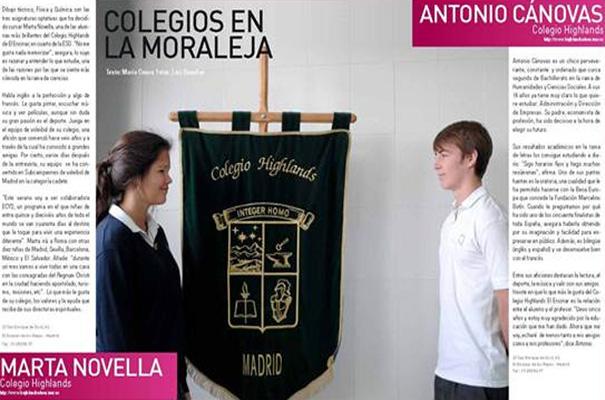 Dos alumnos destacados del Colegio Highlands