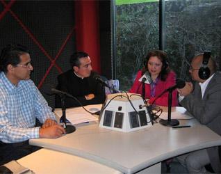 Mtro. Jaime Ponce, P. Gaspar Guevara, L.C., Mtra. Mayra Velázquez y Mtro. César Arellano.