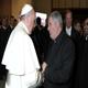 P. Juan José Arrieta, parroco della basilica minore di Nostra Signora di Guadalupe, a Roma, ha salutato papa Francesco al termine dell'incontro del Papa con il clero di Roma.