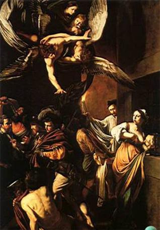 Pintura de Caravaggio titulada �Las siete obras de misericordia�.