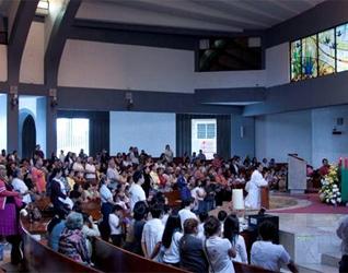 El Santuario de Nuestra Señora de Guadalupe, en Xalapa, fue la sede de la XVI Jornada Mundial del Rosario en la ciudad.