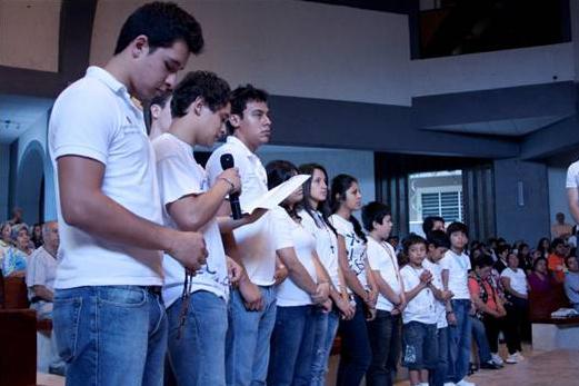 Fue notoria la presencia de los jóvenes en la coordinación y ejecución del evento.