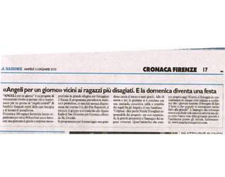 La Nazione Firenze, articolo Angeli 2010