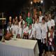 Livia con marito e figli, nel santuario di Nostra Signora di Guadalupe (Città del Messico, Famiglia Missionaria 2012).