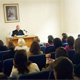 Archbishop Bl&aacute;zquez talking to consecrated women in Chile.