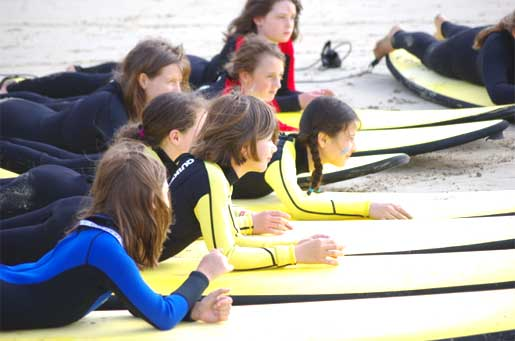 Preparing for surfing in Anglesea