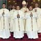 Foto de grupo al final de la misa (de izquierda a derecha): los padres legionarios Pierre Caouette, Stephen Ellis, Janick Caouette, Mons. Paul-André Durocher, Denis Tassé y Anthony Bannon.