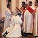 Momento de la ordenación de los dos diáconos.