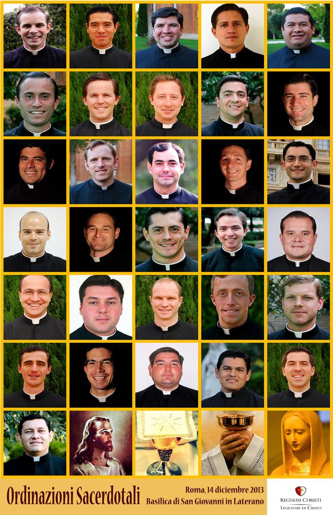 Ordinazioni sacerdotali Legionari di Cristo 14 dicembre 2013 - poster