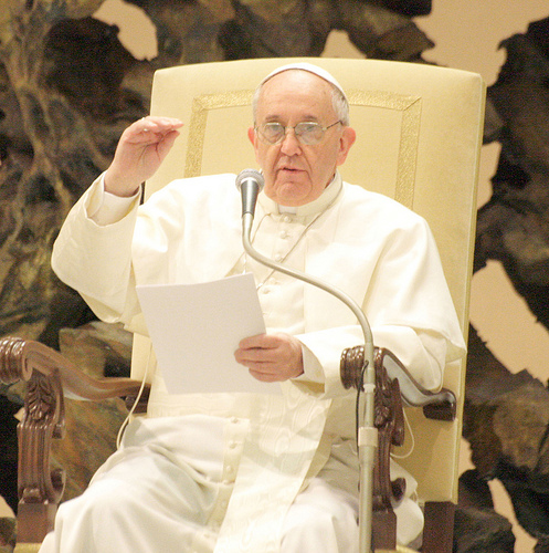 Papa Francesco incontra la stampa internazionale, 16 marzo 2013.