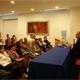 El auditorio del hospital Puebla durante la conferencia del P. Gonzalo Miranda, L.C.