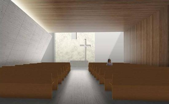 Una imagen del proyecto de la parroquia San Pablo Apóstol.