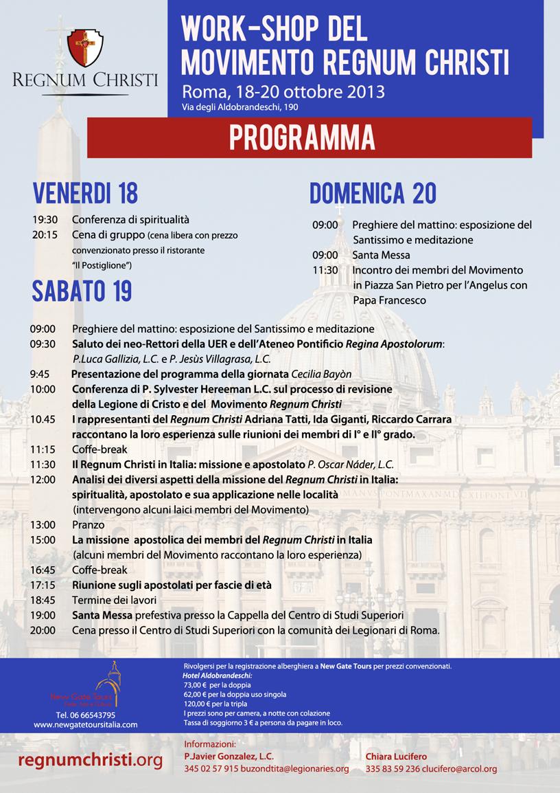 Work-Shop degli Apostolati del Movimento Regnum Christi - 2013