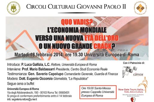 Quo Vadis - Circoli Culturali Giovanni Paolo II - Roma