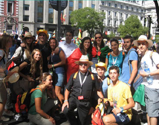 GMG 2011 Madrid: il gruppo degli italiani del Regnum Christi