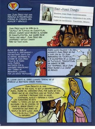 Sección de los �Superhéroes� de la revista �Enlace� de la arquidiócesis de Guayaquil (Ecuador).