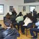 El Dr. Manuel Rodríguez Frausto con los alumnos de la Maestría en Ciencias de la Familia, sede León.