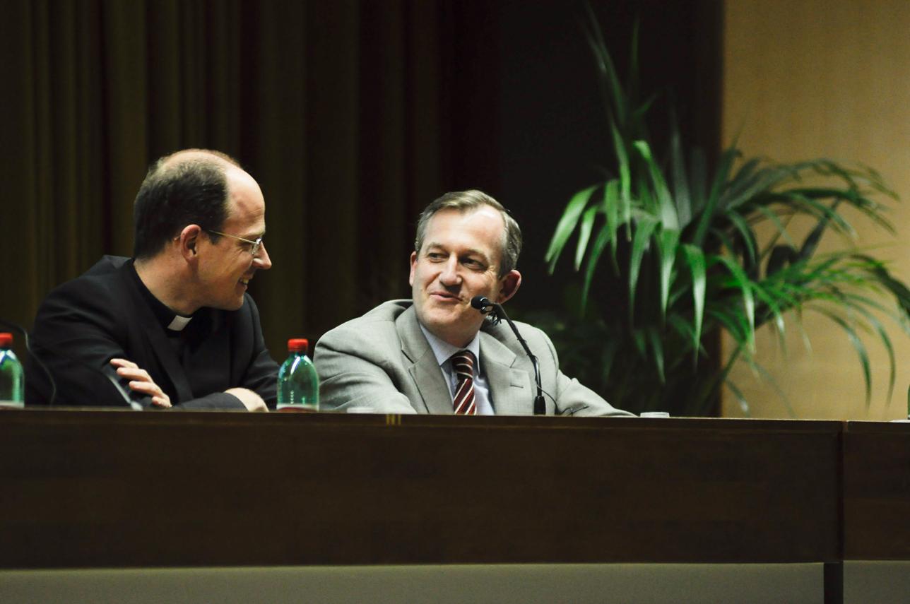 P. Sylvester Heereman, L.C con il Dott. Jorge Lopez