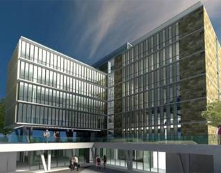 Maqueta digital del nuevo edificio.