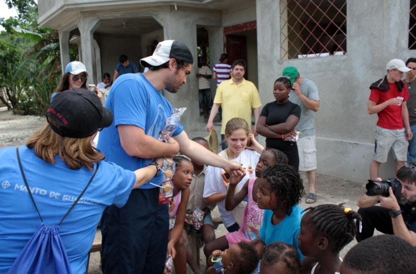 Eduardo serves Haitian residents