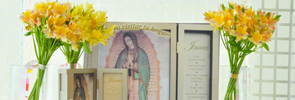 Retablo de la Virgen Peregrina de la Familia.