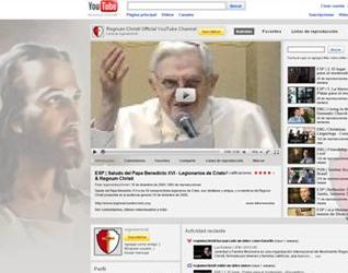 Canales de Youtube donde se pueden seguir los materiales multimedia de los Legionarios de Cristo y del Regnum Christi.