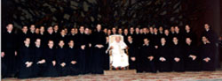 Audiencia con Santo Padre -  Neosacerdotes enero 2002