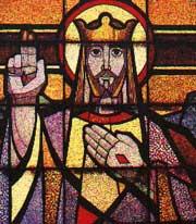 Cristo Rey - Vitral de Efrén Ordoñez